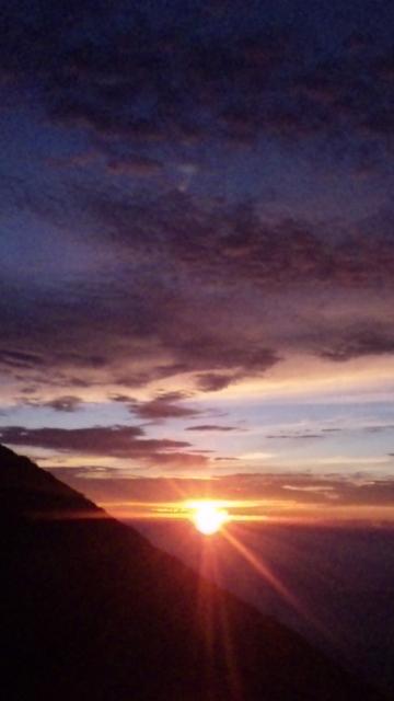 富士山七合目のご来光