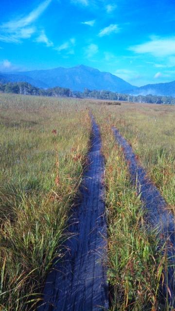 初秋の尾瀬を歩く