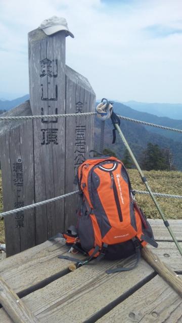 三嶺&剣山登頂