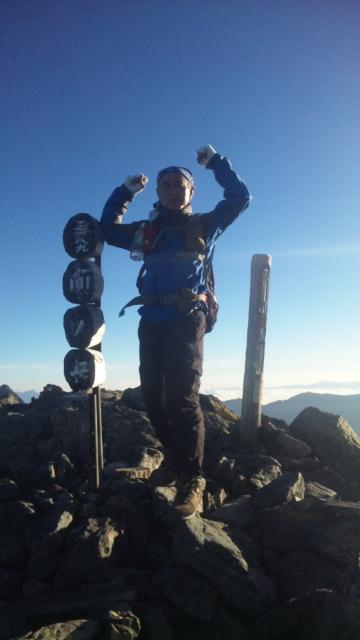 日本第四位の高峰間ノ岳登頂